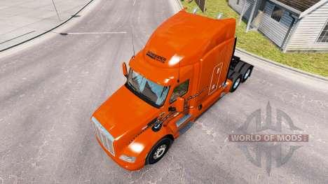 La piel Schneider Nacional sobre camión Peterbil para American Truck Simulator