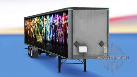 De metal semi-remolque de la Liga de Leyendas para American Truck Simulator