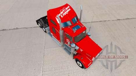 Heartland Express de la piel [rojo] camión Kenwo para American Truck Simulator