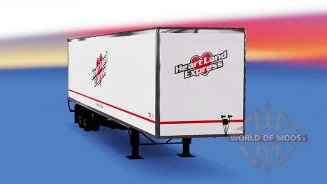 De metal semi-Heartland Express para American Truck Simulator