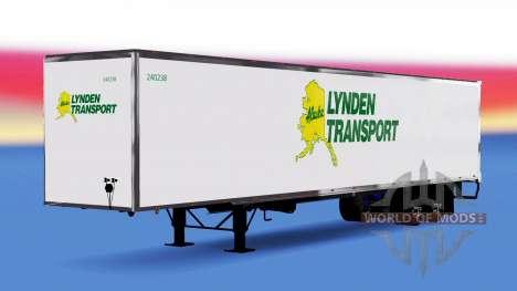 De metal semi-Lynden para American Truck Simulator