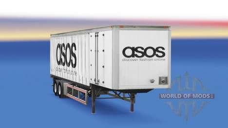 Cortina semi-remolque de Asos para American Truck Simulator