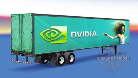 La piel Nvidia GeForce en el remolque para American Truck Simulator