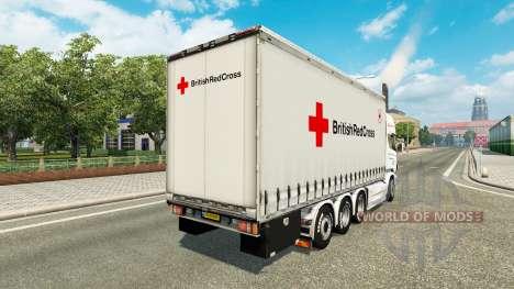 Scania R730 Tandem British Red Cross para Euro Truck Simulator 2