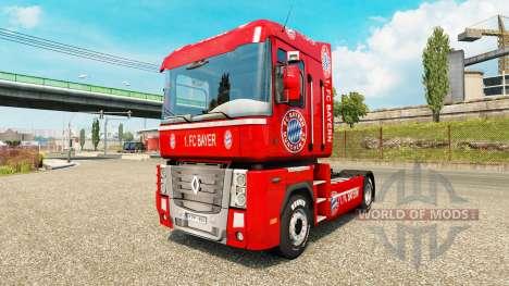 El FC Bayern piel para Renault camión para Euro Truck Simulator 2