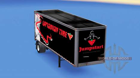De metal semi-remolque Canadian tire para American Truck Simulator