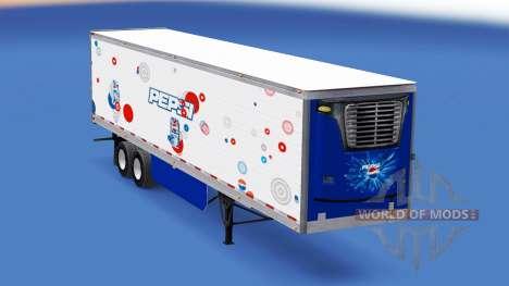 Pepsi piel para el remolque refrigerado para American Truck Simulator