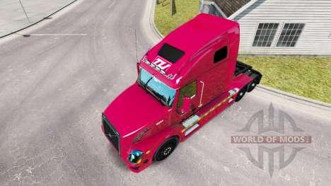La piel Transco Lines, inc. para camiones Volvo  para American Truck Simulator