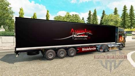 La piel de BitDefender en el remolque para Euro Truck Simulator 2