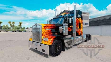 La piel de los Tigres En Llamas en el camión Ken para American Truck Simulator