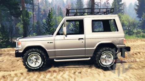 Mitsubishi Pajero I v4.0 para Spin Tires