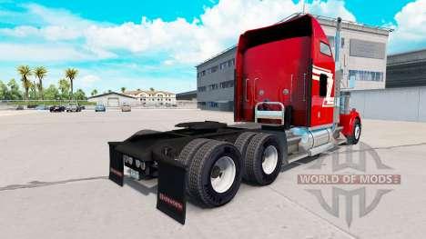 La piel de color Rojo y Crema en el camión Kenwo para American Truck Simulator