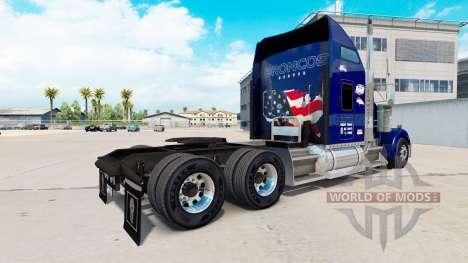 La piel Tío D de la Logística en el camión Kenwo para American Truck Simulator