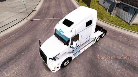Celadon piel para camiones Volvo VNL 670 para American Truck Simulator