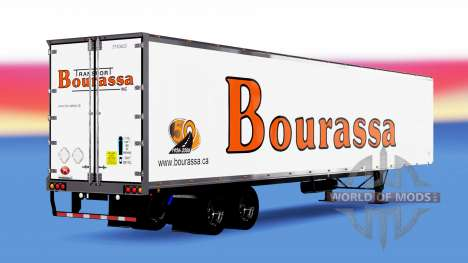 De metal semi-Bourassa para American Truck Simulator