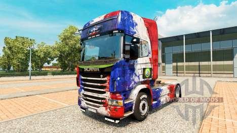 La piel de Copa de Francia 2014 para Scania cami para Euro Truck Simulator 2