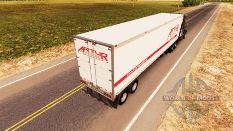 La piel Artur Express en el trailer para American Truck Simulator