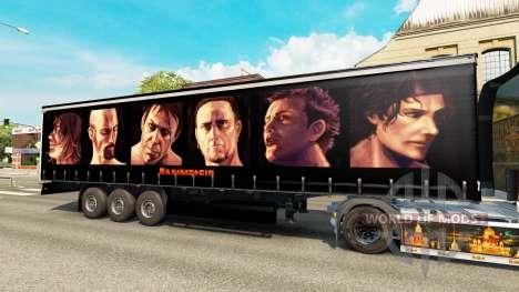 Rammstein skin for trailers para Euro Truck Simulator 2