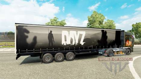 La piel de DayZ en semi para Euro Truck Simulator 2