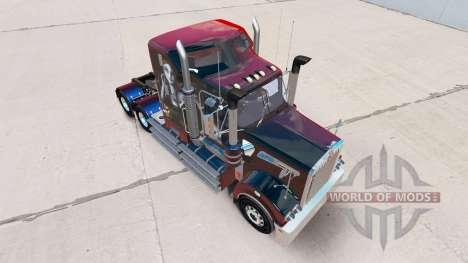 La piel de Sally en el tractor Kenworth T908 para American Truck Simulator