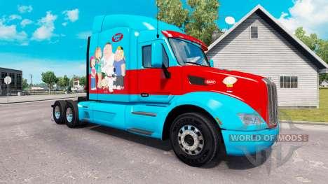 Chico de la familia de la piel para el camión Pe para American Truck Simulator
