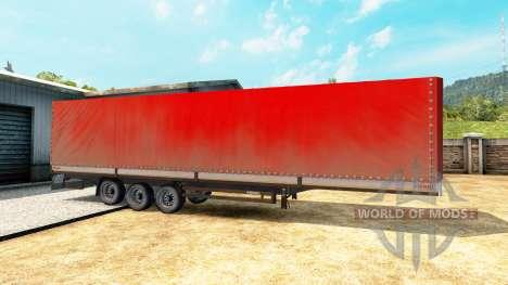 La cortina de lado semirremolque Kogel para Euro Truck Simulator 2