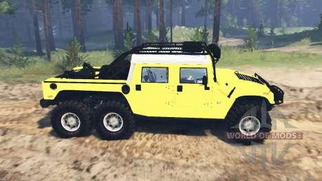 Hummer H1 6x6 Raptor v2.0 para Spin Tires