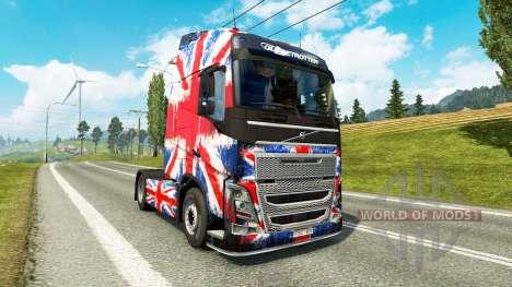 La Inglaterra de la Copa 2014 de la piel para ca para Euro Truck Simulator 2