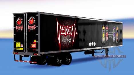 De metal semi-remolque Veneno de Energía para American Truck Simulator