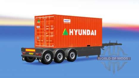 Semi-remolque con 20 libras de contenedor para American Truck Simulator