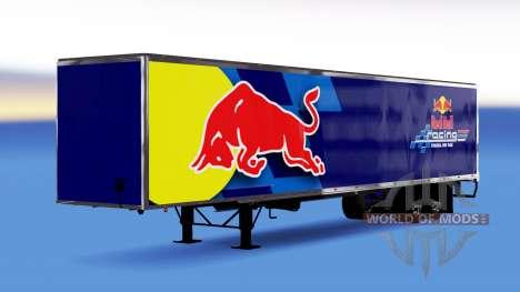 De metal semi-remolque de Red Bull para American Truck Simulator
