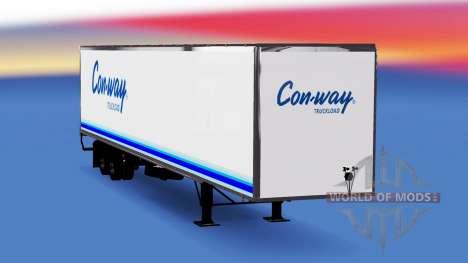De metal semi-remolque Conway para American Truck Simulator