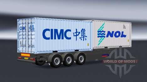 Semi camiones y contenedores v1.1 para American Truck Simulator