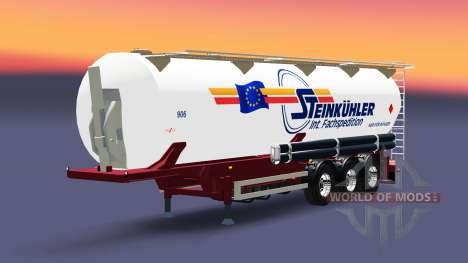 The semitrailer tanque de Steinkuhler para Euro Truck Simulator 2