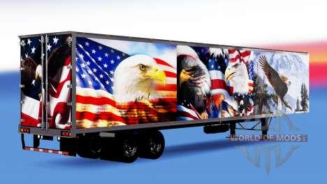 Todo el metal-semirremolque Águila para American Truck Simulator
