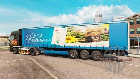 La piel de BUGA 2015 para la semi para Euro Truck Simulator 2