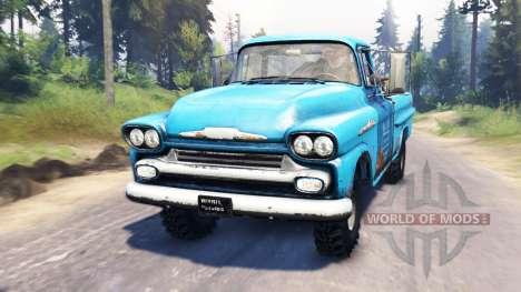 Chevrolet Apache 1959 v4.0 para Spin Tires