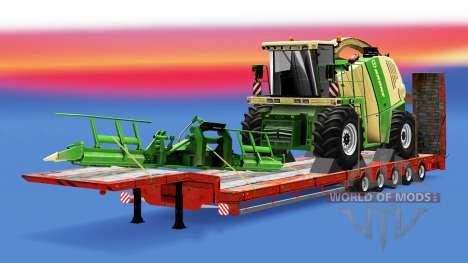 Una colección de trailers con diferentes cargas  para Euro Truck Simulator 2