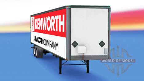 De metal semi tráiler Kenworth para American Truck Simulator