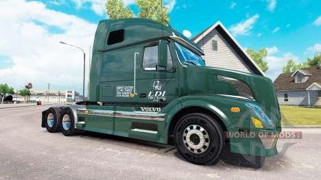 La piel de los Servicios de LDI tractor Volvo VN para American Truck Simulator