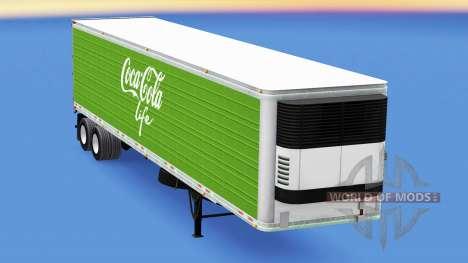 Refrigerado semi-remolque de Coca-Cola de la Vid para American Truck Simulator
