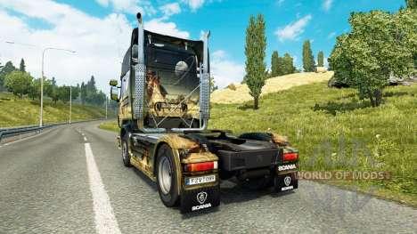 El espacio de la Escena de la piel para Scania c para Euro Truck Simulator 2