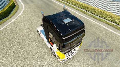 Rojo de la piel de Toro para Scania camión para Euro Truck Simulator 2