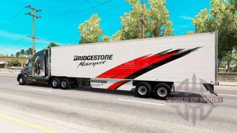 Bridgestone de la piel en el remolque refrigerad para American Truck Simulator