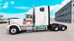 La piel XPO de la Logística en el camión Freight