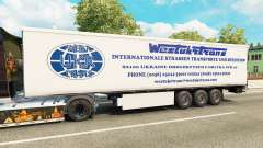 El Oeste de Camiones Trans de la piel para remol