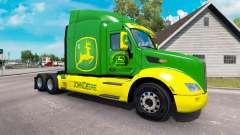 La piel de John Deere tractor Peterbilt