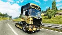 El espacio de la Escena de la piel para Scania c