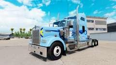 La piel Werner en el camión Kenworth W900