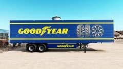 La piel de Goodyear en refrigerada semi-remolque